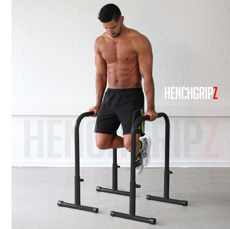 Dips Replacement Exercise: HENCHGRIPZ Equalizer Dip Bars / Parallettes / Parallel